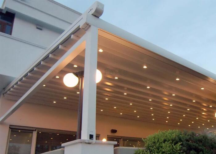 waterproof recreation Aluminum PVC pergola